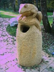 Skulpturenweg #5 - Skulpturenweg, Holzskulptur, Skulptur, Kunst, Holz, Schnitzhandwerk, Bildhauerei, Frosch