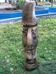 Skulpturenweg #6 - Skulpturenweg, Holzskulptur, Skulptur, Menschen, Gesicht, Kunst, Holz, Schnitzhandwerk, Bildhauerei