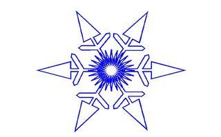 Schneeflocke#2 - Schneeflocke, Schneestern, Schneekristalle, Eiskristalle, schneien, Winter, winterlich, Schnee, kalt, Eis, Grafik, Einzahl, Singular, Eiskristall, Schneekristall