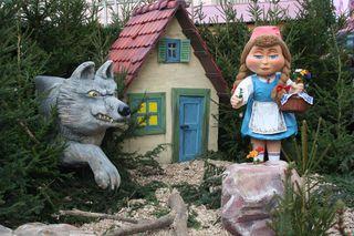 Rotkäppchen#3 - Rotkäppchen, Wolf, Korb, Wein, Wald, Märchen, Märchenfiguren, Grimm, Brüder Grimm, Gera, Weihnachtsmarkt, Märchenmarkt, Markt