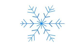 Schneestern#5 - Schneeflocke, Schneekristalle, Eiskristalle, Schneestern, schneien, Winter, winterlich, Schnee, kalt, Eis, Grafik, Einzahl, Singular, Eiskristall, Schneekristall