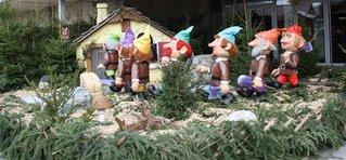 Sieben Zwerge-Schneewittchen#1 - Zwerge, Sieben, 7, Wald, Schneewittchen, Märchen, Märchenfiguren, Gebrüder Grimm, Brüder Grimm, Gera, Markt, Weihnachten, Weihnachtsmarkt, Märchenmarkt, Figuren