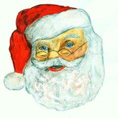Berühmte Köpfe - Weihnachtsmann#2 - Weihnachten, Weihnachtsmann, Santa Claus, Kopf, rot, weiß, Bart, Rauschebart, Geschenke, schenken, Familienfest, Heiligabend, Brauchtum, Symbolfigur, Coca-Cola Company, Nordpol