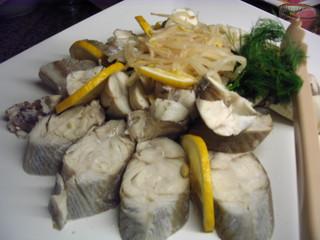 Fisch gedünstet - Fisch, gedünstet, Hauptspeise