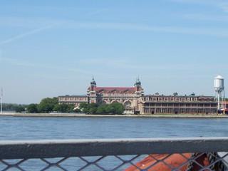 Ellis Island - New York, Ellis Island, Hudson, Hudson River, NY, NYC, Einwanderung, Immigranten, Einreisebehörde, Freiheit, Sorgen