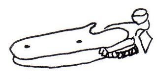 Dosenöffner alt - Dosenöffner, Öffnergerät, Dosen, Konservendosen, Hebelinstrument, Hebelgriff, Zangengriff, Drehmechanismus, Schneidewerkzeug, Schneideräder, Küchengerät, Küchenhelfer, öffnen, Zeichnung