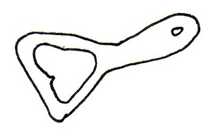 Flaschenöffner - Flaschenöffner, Kapselheber, Werkzeug, öffnen, entfernen, abhebeln, Flaschen, Kronkorken, Hebeltechnik, Zeichnung