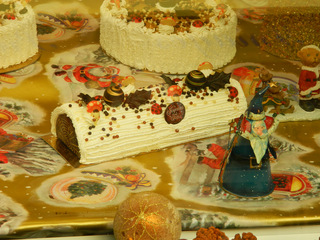 la bûche de Noël - Frankreich, civilisation, bûche, Noël, Noel Gebäck, Kuchen, Weihnachten, réveillon, pâtisserie, Patisserie
