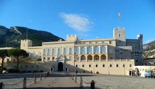 Fürstenpalast Monaco - Monaco, Fürstenpalast, Palast, Residenz, Palais Princier, Grimaldi, Westansicht, Panorama