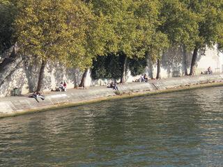 les quais de la Seine - Frankreich, Paris, Seine, quais, Ufer, befestigt