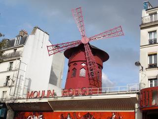 Moulin Rouge#1 - Frankreich, Paris, Montmartre, Moulin Rouge, Mühle, Windmühle, rot, Varieté, cabaret, Unterhaltung, Bühne, Cancan, Tänzerinnen