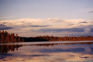 Natur - Natur, Wald, See, spiegeln, Finnland, Lappland, Spiegelbild