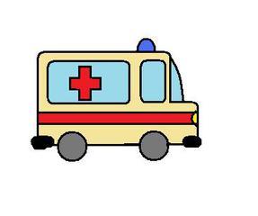 Krankenwagen - Krankenwagen, Krankenhaus, Notarzt, Feuerwehr, Sanitäter, Unfall, Notruf, Rettung, Blaulicht, Sirene, Rotkreuz, Verkehr, Auto, Fahrzeug, Vorfahrt, Krankentransport, Rettungstransport, helfen, retten, verarzten, Anlaut kr