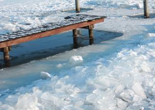 Wasser und Eis - Winter, Frost, Eis, Wasser, Schnee, frieren, gefroren, zugefroren, See, Dichte, Physik, Aggregatzustand, Anomalie, Eisdruck