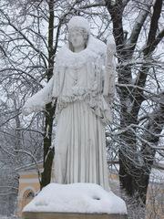 schneebedeckte Statue - Winter, Schnee, weiß, Statue, kalt, bedeckt