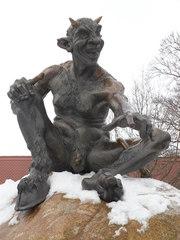 Teufel - Teufel, Hörner, sitzend, Skulptur, Mythen, Sagen, Hexentanzplatz, Kultort, Thale, Sehenswürdigkeit, Harz