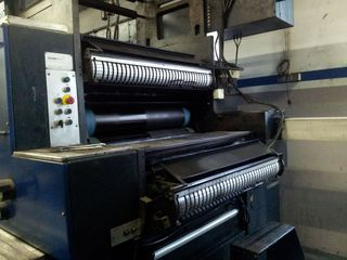 Offset Druckmaschine # 01 - Druckmaschine, Offset, Rollen, Druckerei, Flachdruckverfahren, Rollenoffsetdruckmaschine, Rotation, drucken, bedrucken, Druck, Flachdruck