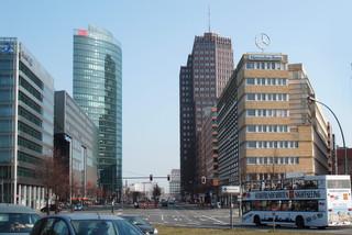 Berliner Architektur - Potsdamer Platz #1 - Ansichten, Blickwinkel, Perspektiven, Architektur, Fluchtpunkt, Haus, Hochhaus, hoch