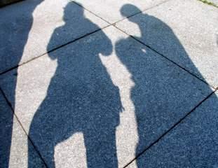 Schatten - Schatten, Wortschatz, Anlaut sch, menschlich, Umriss, Optik, Licht, Physik
