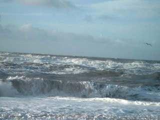 Nordsee bei Sondervig - Nordsee, Wellen, Sturm, blau, Meer