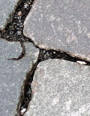 Straßenpflaster #2 Ausschnitt - Pflaster, Straße, Pflasterstein, Stein, Belag, Hintergrund, viereckförmig, quadratisch, Struktur, Wegebau, Straßenbau, Reihenverband, Fuge