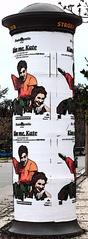 Litfaßsäule - #3 Comicart - Litfaß, Säule, Werbung, werben, Plakat, Plakatierung, plakatieren, außen, drucken, Druck, Comic, Rechtschreibregeln, ß, Zylinder, Mathematik, Körper