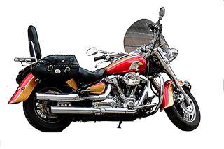 Motorrad ohne Hintergrund - Motorrad, stehend, Hubraum, PS, fahren, Verkehr, Verkehrsmittel, Fortbewegung, Rad, Räder, Zweirad, Kraftrad, Krad, bewegen, motorisiert, Schaltgetriebe, rollen