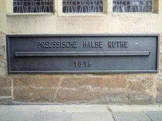 Preußische halbe Rute #1 - Maß, Maße, Maßeinheit, Längenmaß, Längenmessung, Landesvermessung, Landvermessung, historisch, Meter, messen, Länge, Klafter, preußisch