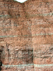 Felsen auf Helgoland - Felsen, Helgoland, Kalksandstein, Kreide, Buntsandstein, Eisen, Geologie, Kupfersulfat, Insel, Nordsee, Erosion