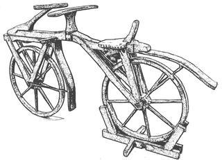 Laufrad-Fahrrad-Velo - Velo, Fahrrad, Holzdraisine, Holz, fortbewegen, fahren, Zweirad, Bicycle, einspurig, Laufrad