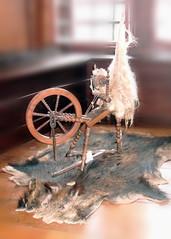 Spinnrad - spinnen, Spinnrad, Tuchmacherei, Handwerk