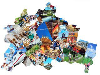 Berlin Collage - Berlin, Collage, Umriss, Stadt, Kunst, Grenze, Karte, Erde, Städte, Welt, Hauptstadt, Metropole, Leben
