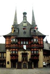 Wernigerode Rathaus - Rathaus, Fachwerkhaus, Wernigerode, spitz, Türmchen, Schreibanlass