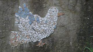 Friedenstaube - Friede, Frieden, Taube, Friedenstaube, Symbol, Mosaik, Kunst, Keramik, Religion
