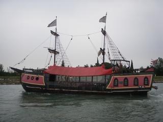 Piratenschiff - Schiff, Pirat, Kogge, Touristen, Meer, Segelschiff, Kampf, Kanone