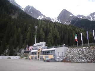 Biathlonstadion - Antholz - Alto Adige, Südtirol, Anterselva, Antholz, Biathlon, Schistadion, schießen, Sprecherkabinen, fernsehen, Schilanglauf, Stadion