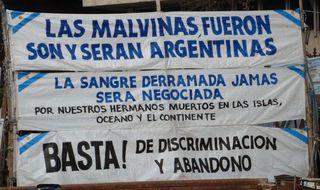 Protest  gegen MALVINAS - Falklandkonflikt - Falkland, Malvinas, Protest, Falklandkonflikt
