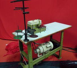 Nähmaschine  # 1 - Nähmaschine, nähen, Spulen, Riemenantrieb, elektrisch, Elektromotor, Naht, Gewebe, verbinden, Zierstiche, Nutzstiche, Knopfloch, Nadel, Faden, Antrieb