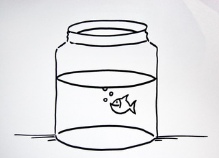 Symbolkarte/ Material - Wasser, Tuschwasser, Wasserglas, Arbeitsmaterial, Kunst