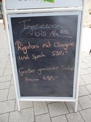 Speisekarte - Speisekarte, Essen, Angebot, Schild, Rechtschreibung, Rechtschreibfehler, Restaurant, kurios