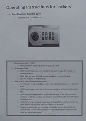 Operating instructions for locker - Schließfach, locker, Gebrauchsanweisung, Benutzung, Nutzhinweise, Anweisung, Nutzung