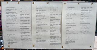 Speisekarte #1 französisch - Speisekarte, Speisenangebot, französisch, carte, restaurant, Speisen, Gerichte