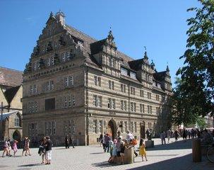 Hameln, Hochzeitshaus - Renaissance, Giebel, Hochzeitshaus, Weser-Renaissance, Süntelsandstein