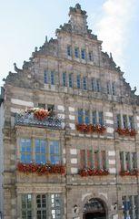 Hameln, Rattenfängerhaus - Giebel, Renaissance, Rattenfängerhaus