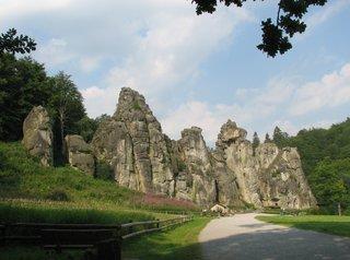 Externsteine #1 - Naturdenkmal, Felsen, Sandstein, Felsformation, Externsteine