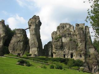 Externsteine #2 - Naturdenkmal, Felsen, Sandstein, Felsformation, Externsteine