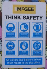 Hinweissschild zur Sicherheit 01 - sign, English, safety