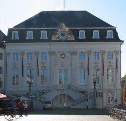 Bonner Rathaus - Rathaus, Bonn, Rokoko, Fretreppe, Marktplatz