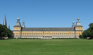 Bonn, Universität, Hauptgebäude - Bonn, Universität, Klassizismus, Südfassade, Südfassade, Kurfürstliches Schloss