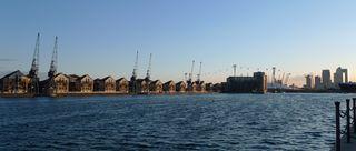 Olympische Spiele London 2012 #5 - London, Stadtteil, Docklands, Docks, Hafen, Geschäftszentrum, Seilbahn